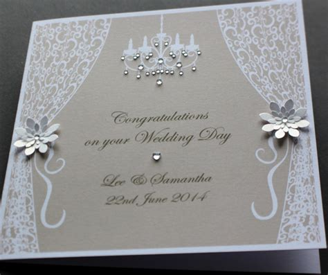 Handmade Wedding Cards Uk - handmade personalised vintage style congratulations