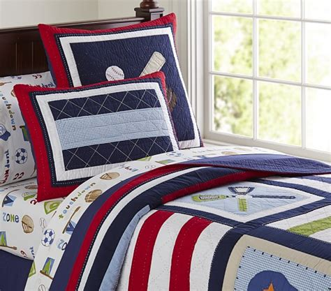 pottery barn boys bedding jake quilted bedding pottery barn kids