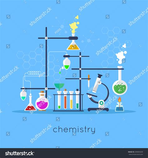 design experiment chemistry spm chemistry laboratory workspace science equipment concept
