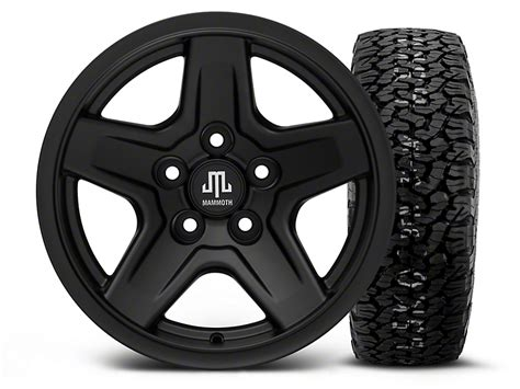 Bfgoodrich Sweepstakes - mammoth wrangler boulder black 15x8 wheel and bf goodrich all terrain ta ko2 tire