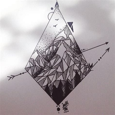 mountain outline tattoo 17 best ideas about geometric mountain on