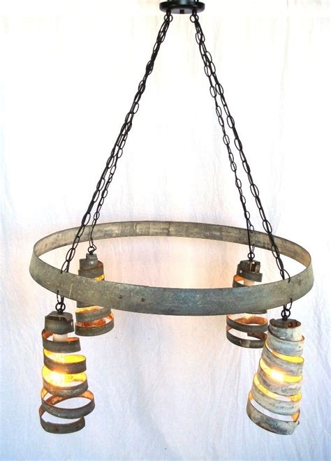 Wine Barrel Ring Chandelier Crafted Bajan Quot Celestial Quot Wine Barrel Ring Chandelier 100 Recycled By Wine Country