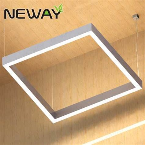 square led light fixtures 400 500 1000mm white square led direct indirect pendant