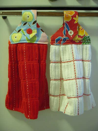Hanging Kitchen Towels by 20 Patterns To Make Dish Towels Allfreesewing