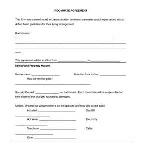 Roommate Agreement Template by Roommate Agreement Template 10 Free Word Pdf Document