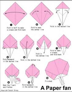 How To Make A Paper Fan For - origami paper fan origami papel de origami