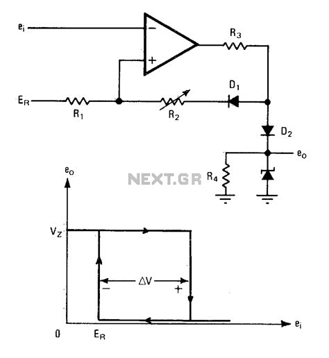 diode comparator circuit gt other circuits gt switch circuits gt comparator with variable hysteresis l12585 next gr