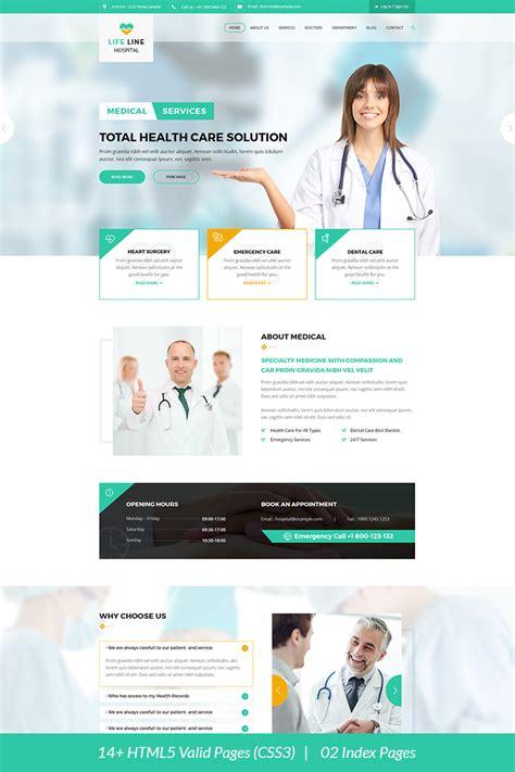 Life Line Hospital And Health Website Template 67698 Healthcare Website Templates