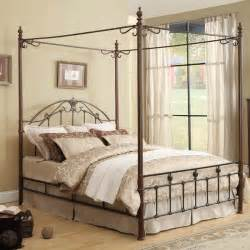 Canopy Beds Nz Tribecca Home Newcastle Graceful Scroll Bronze Iron King