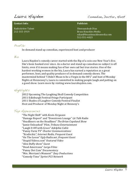 laura hayden comedy resume