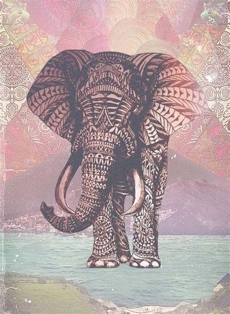 elephant pattern tumblr elephant and aztec tumblr