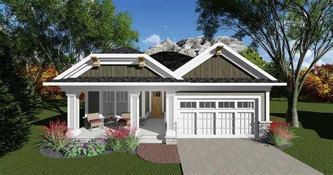 bed craftsman bungalow  open concept floor plan