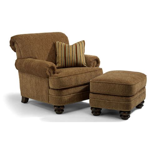 Cheap Chair And Ottoman Flexsteel 7791 10 08 Bay Bridge Chair And Ottoman Discount Furniture At Hickory Park Furniture