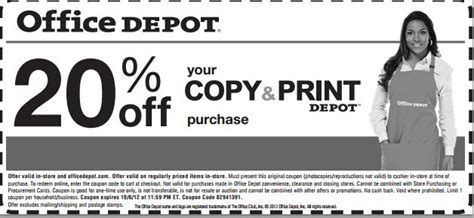 office depot printable coupons copy and print office depot 20 off copy print printable coupon