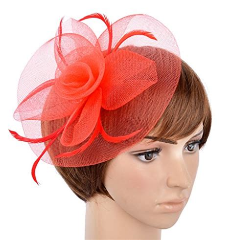 hair fascinators all available to buy online hair fascinators fascinator on hairclip for women mesh feather buy online