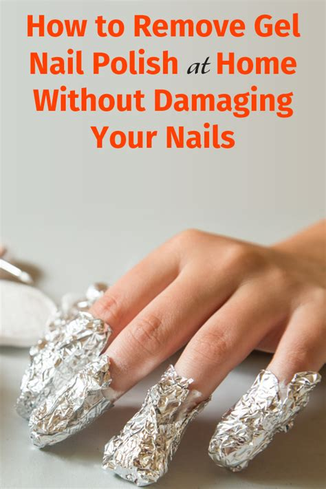 how to remove gel nail at home without damaging
