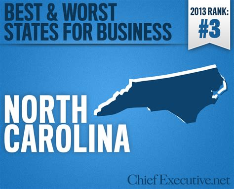 Top Mba Programs In Nc by Carolina Is The 3rd Best State For Business 2013