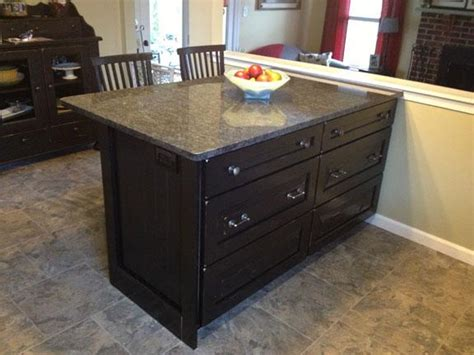 kitchen peninsula cabinet made to look like a of
