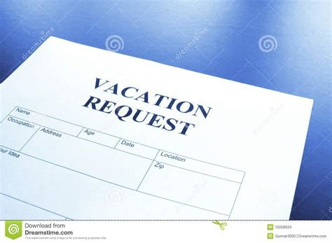 request for vacation time off form doc pictures