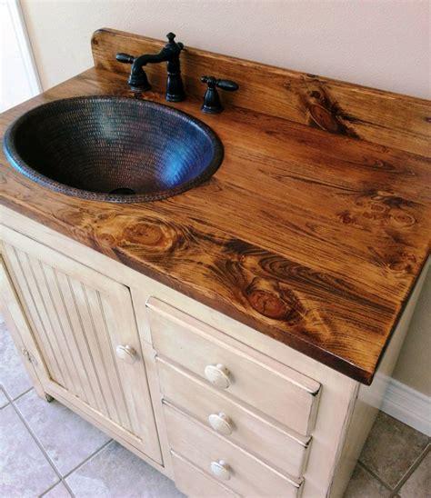 bathroom vanity with copper sink 1000 ideas about rustic bathroom vanities on pinterest
