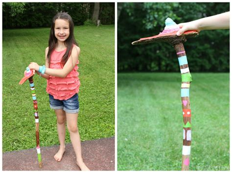 Ideas To Decorate A Kitchen diy painted walking sticks glamping projects