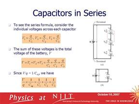 series capacitor voltage physics 121 electricity magnetism lecture 6 capacitance ppt