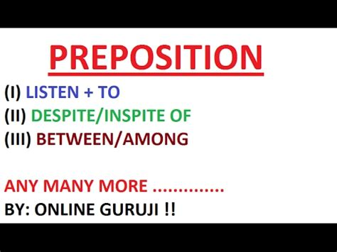 Mba After Bank Po Experience by Preposition Part 2 For Ssc Cgl Bank Po Sbi Po Mba
