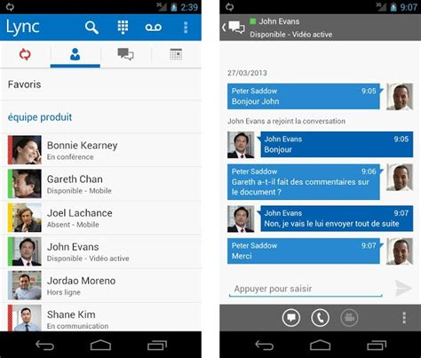 lync 2013 for android microsoft lync 2013 est disponible sur android