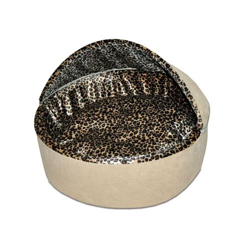 k h thermo kitty heated cat bed k h pet products thermo kitty deluxe large tan leopard