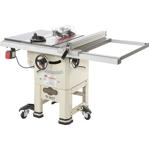 shop fox w1837 10 quot 2 hp open stand hybrid table saw