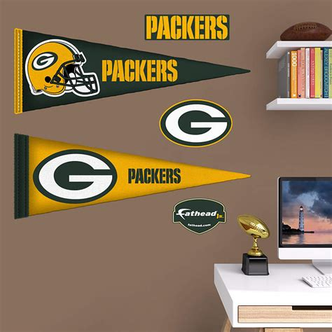 green bay packers wall stickers green bay packers pennants fathead jr wall decal shop fathead 174 for green bay packers wall