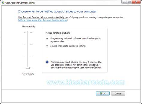 Software Original Software Program Kasir Cafe Restoran Warung cara mudah mematikan uac pada windows 7 kiosbarcode