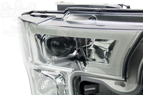 2015 2017 F150 Spyder Led Light Bar Projector Headlights Smoked Led Light Bar