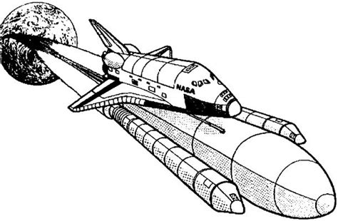 space shuttle launch coloring page www imgkid com the