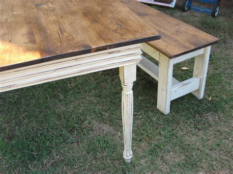 farmhouse table with bench farm table and 2 benches farmhouse dining table and benches