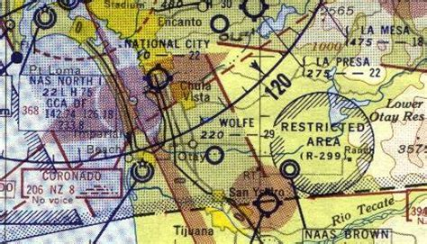 San Diego Sectional Chart by Abandoned Known Airfields California Southern