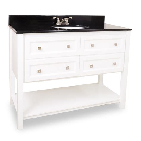 Bathroom With White Vanity with 48 Adler White Bathroom Vanity Van066 48 Bathroom Vanities Bath Kitchen And Beyond