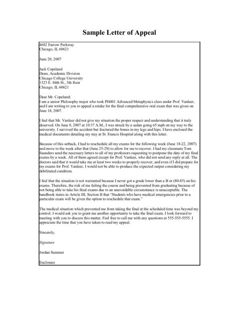 Petition Letter To Retake A Class Sle Formal Lettersl
