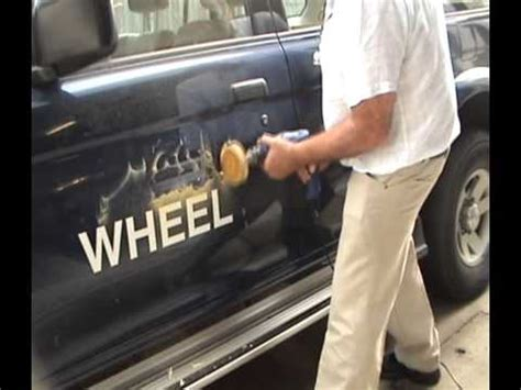 removing boat lettering whizzy wheel decal remover remove car truck decals and