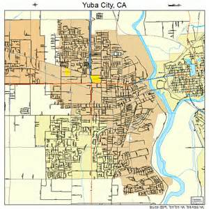 yuba city california map 0686972