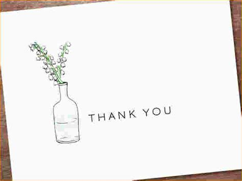 Template For Thank You Card After by 5 Free Thank You Card Template Ganttchart Template