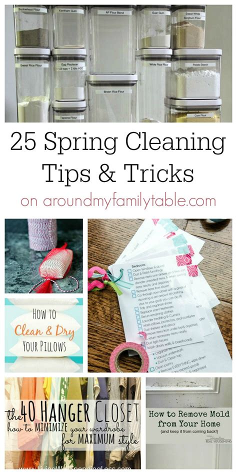 spring cleaning tips and tricks 25 spring cleaning tips tricks around my family table