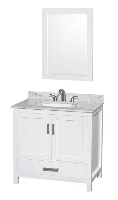 36 Bathroom Vanity Combo 36 Quot Modern Solid Wood White Vanity Combo Home Center Outlet