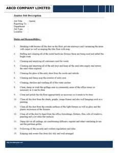 Janitorial Description janitor description freewordtemplates net
