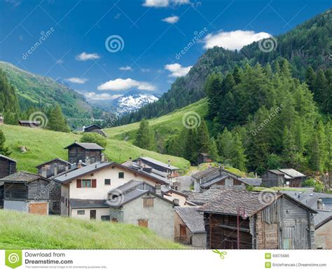 small villages small old village in switzerland stock photo image 60075680