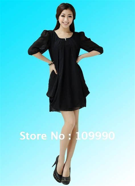 Korea Dress Shania Black Size L chiffon dress dresses plus size korean version 2014 new fashion m l xl xxxl