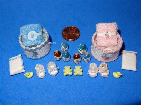 Handmade Miniatures - ooak miniature handmade artist baby nursery accessories