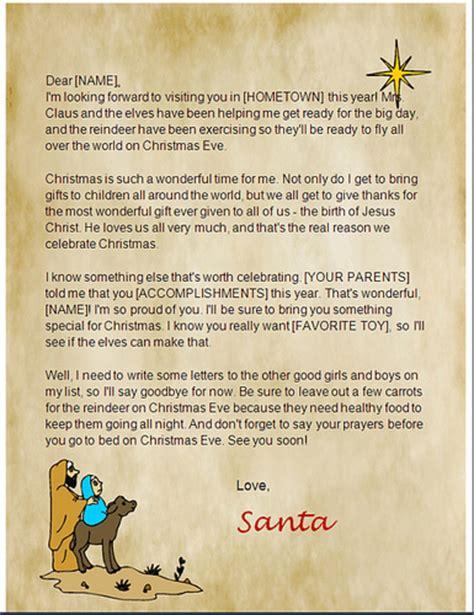 printable christian santa letters hubpages