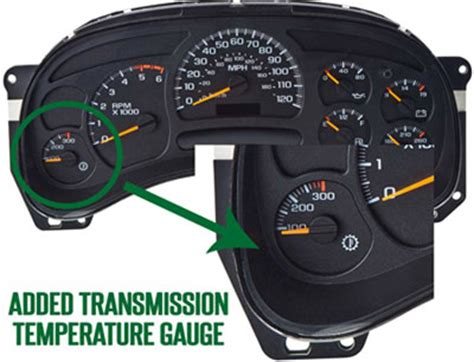 transmission control 2003 chevrolet tahoe instrument cluster why you should add a gm transmission temperature gauge to a chevrolet or gmc instrument cluster