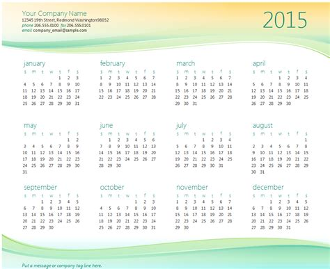 2015 business calendar template my excel templates excel template excel business templates